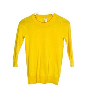 J. Crew Long Sleeve Shirt Yellow Women XS
